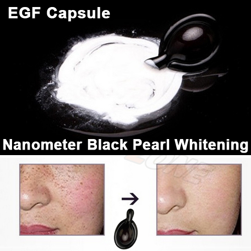 Pearl Powder Miracle Whitening EGF Essence Capsule Lighten Freckle High Hydrating Brighten Skin Care Serum(China (Mainland))