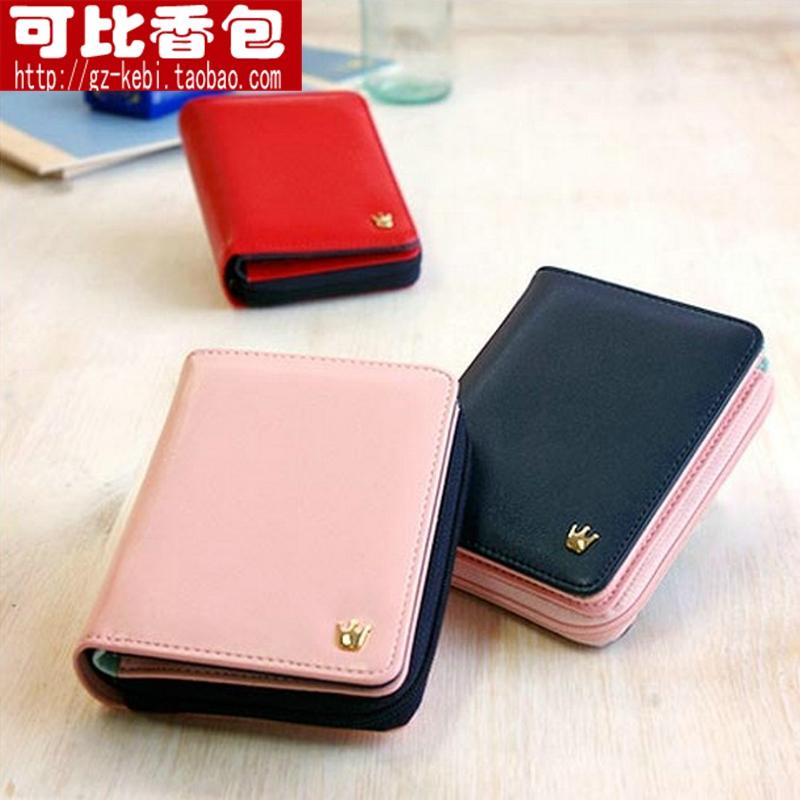 Color block short design wallet 2013 women's zipper wallet fashion wallet