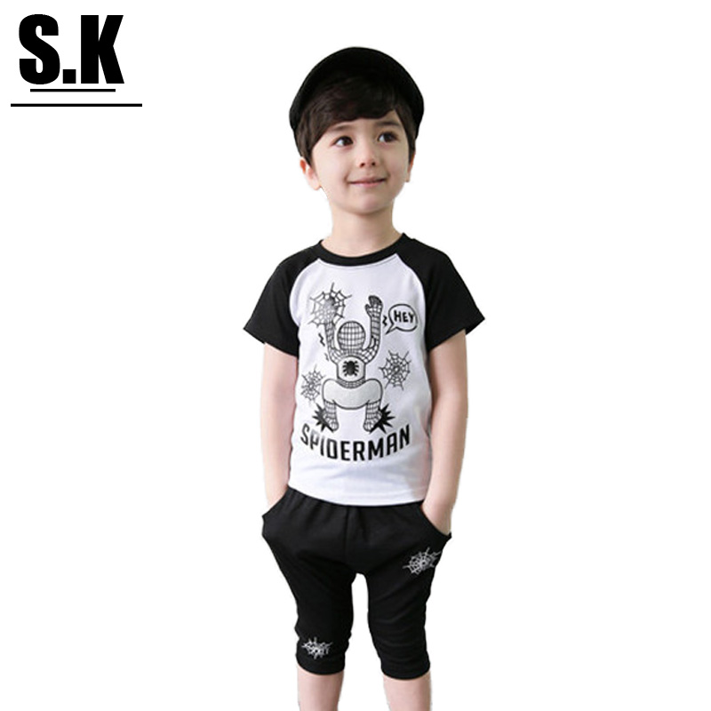 Brand Sunshine Kid 2016 Summer Boys Clothes Fashion Boys Clothing Sets Kids Cotton Outwear for Boys(China (Mainland))