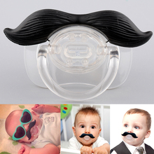 Hot Funny Black Silicone Infant Baby Kid Child Pacifier Orthodontic Nipples Dummy Mustache Beard 1Pc