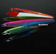 Deep sea Metal Jig  Fishing fish Lure Jigbait spoon Treble Hook Spinner baits 150g fishing Free shipping