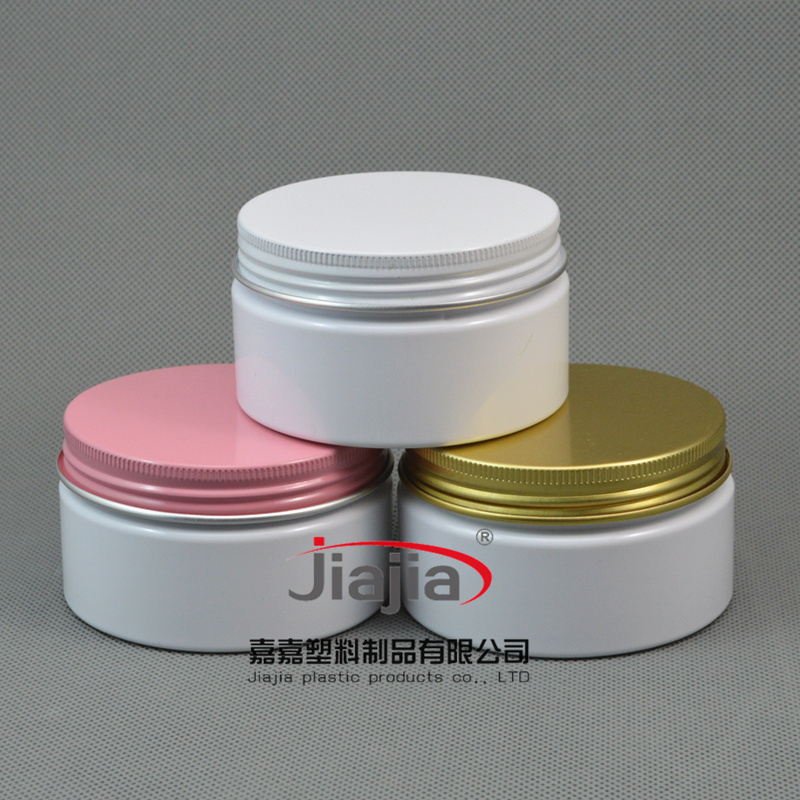 100ml Empty PET Container for Styling Gel Hair Wax ,100g Cream Jar PET Packaging, white Jar with white/pink/black aluminum cap(China (Mainland))