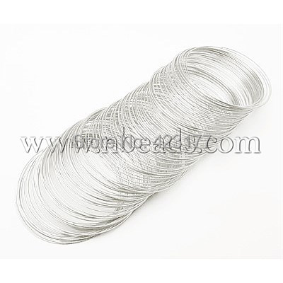 Steel Memory Wire, Silver Color, Size: about 0.5mm in diameter, 55mm inner diameter(China (Mainland))