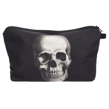Skull 3D Printing cosmetic bag trousse de maquillage Zohra women makeup bag pencil bags travel organizer neceser para mujer