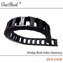 JFLO 1 Meter 25x50mm Wire Carrier cable Drag Chain Bridge Open on Both Sides Protection Towline  with end Joints Tanks chain