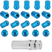 SPMART 20pcs Wheel Hub Nuts M12x1.5mm with Tool for Toyota Honda CIVIC Chery -Blue Free Shipping(China (Mainland))