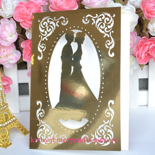 Wedding,wedding Occasion and Party Decoration Event & Party Item Type gold Personalized Art Deco Wedding Invitations cards(China (Mainland))