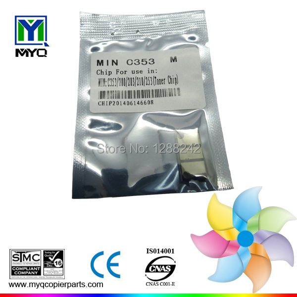 Four Color Drum Chip for Konica Minolta Bizhub C200/203/253/353/210 OEM: IU-212M(China (Mainland))