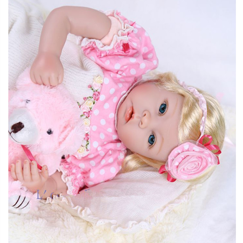 Fashion Real Reborn Babies Bonecas Vinyl Silicone Reborn Dolls for Childs,20 Inch Realistic Reborn Baby Dolls(China (Mainland))