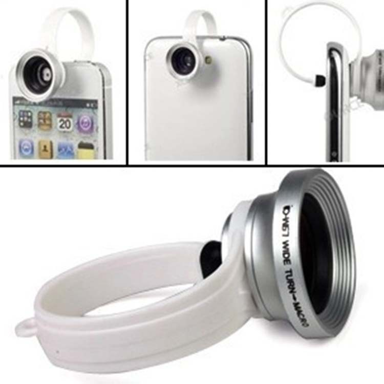180 degree Detachable Wide Angle + Micro Lens Fisheye Lens Camera +Loops Clip For iPhone 4 4s 5 Samsung xiaomi mobile phone