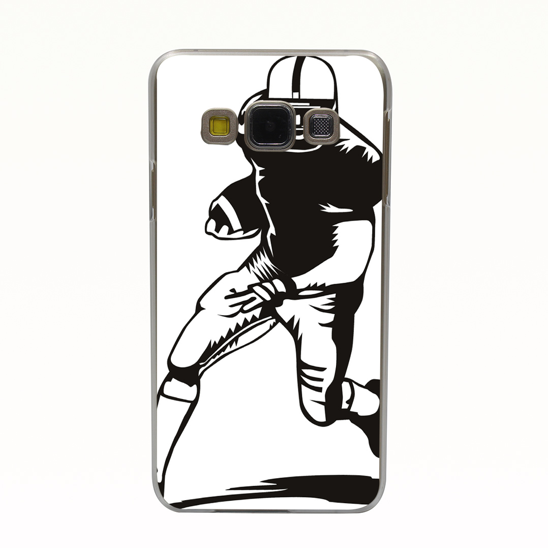 210T American Football Sports Style Transparent Hard Back Cover for Galaxy A3 A5 A7 A8 J5 J7 Note 2 3 4 5 Grand 2 & Prime(China (Mainland))