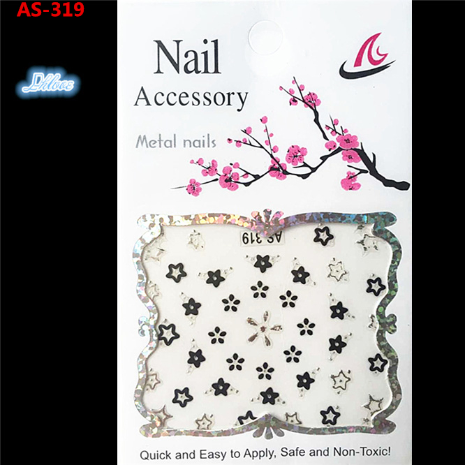 1 a black and white nail stickers Decorative pattern design adornment art nail accessories Women beautiful nail tools AS - 319(China (Mainland))