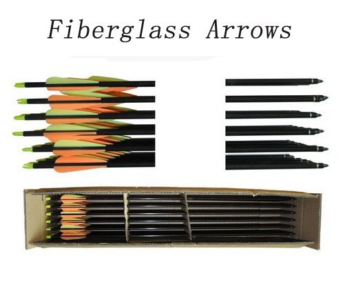 Free shipping 12 PC lot 30 Fiberglass Arrows Bow Arrows archery accessories for hunting shooting
