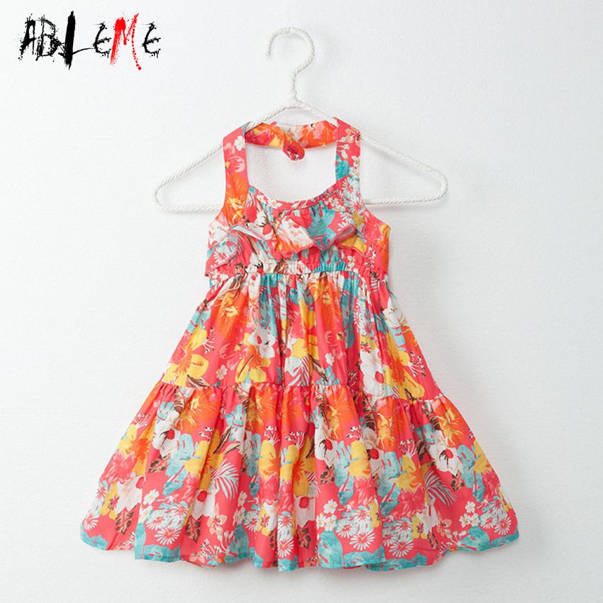 Multi-Layered Children Clothing Girl Sling Summer Dress Without Sleeve Bohemia Style Leisure Girl Daily Life Dress Enfant Fille(China (Mainland))