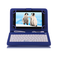 "IRULU Brand 7"" Black Tablet PC Dual Core Dual Cam Android 4.4 Kitkat 1024*600 8GB Wifi/FM GPS/BT Blue Keyboard(China (Mainland))"