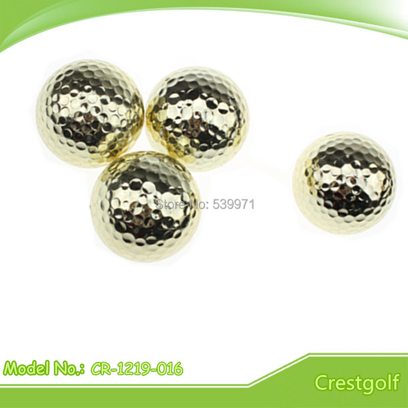 Free shipping high quality promotion luxury gold color double layer golf gift ball with golden 30pcs balls(China (Mainland))