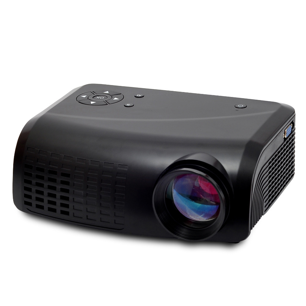 Factory wholesale 500 lumens cheap portable HD LED home theater multimedia video game projector(China (Mainland))