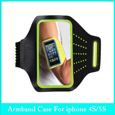 Workout Running Gym bag Sports Arm band Case Cover For iphone 5 5s 4S 4 4G Pouch Holder For iphone Arm band Bags HOT items(China (Mainland))