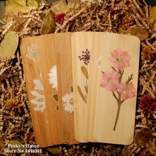 Handmade Ancient Dried Flowers Bookmark / Flowers / Bamboo Bookmarks / DIY Artware as Gift Collection(China (Mainland))