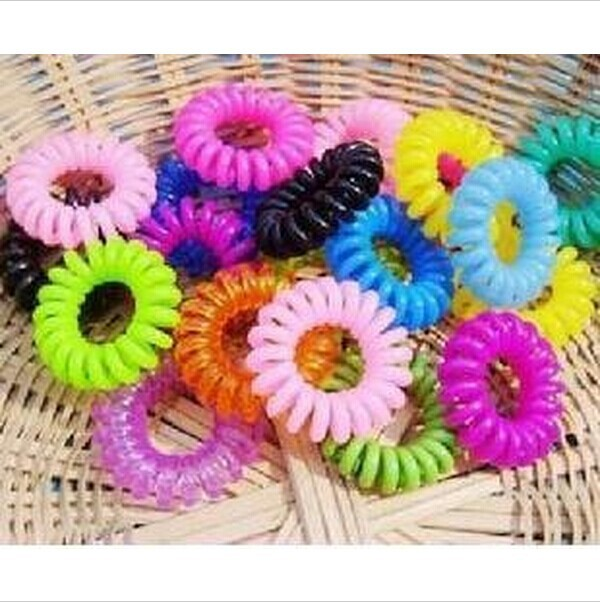 1pc Top Selling Novelty Cute Candy Colors Telephone Line Gum For Hair Jewelry Scrunchy Capitium Headbands JHD16(China (Mainland))