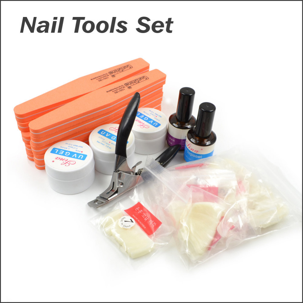French Arcylic Nail Design Tool Set Buffing Clipper UV Gel Topcode Manicure Kit<br><br>Aliexpress