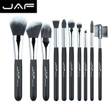 JAF Fashionable 10 pieces Professional Cosmetic Makeup Brush set Soft Taklon Fiber Make-up brushes Tool Kit J10NNS(China (Mainland))