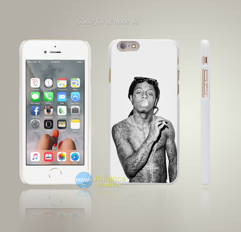 hg33 lil wayne music hiphop singer artist Style Hard White Case Cover Coque for iPhone 4 4s 4g 5 5s 5g 5c 6 6s 6 6s Plus(China (Mainland))