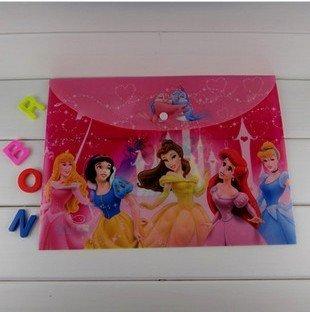 Wholesale Lot of 30pcs, Snow White Design Kds Cartoon A4 Documents Bag/ File Folder/ Stationery Holders/ File Bag, Kids Gift
