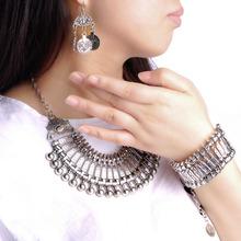 Vintage Silver Turkish Coin Earrings floral design Gypsy Beachy Ethnic Tribal Festival Jewelry Turkish Bohemian Earrings