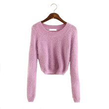 Oversized Sweater Jumper Pull Femme 2016 Crop Sweaters Women Sueter Mujer Sweter Korean Tricot Knitting Jumpers Mohair Pullovers(China (Mainland))
