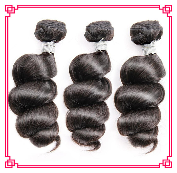 6A Unprocessed Peruvian Virgin Hair Loose Wave 3 pcs lot Human Hair Extensions Natural Black hair weaves<br><br>Aliexpress