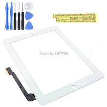 Горячая распродажа замена для iPad 4 сенсорный экран дигитайзер стекла датчик белый + бесплатная клей и инструменты