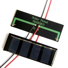 Buy 2V 100MA Mini Solar Cell+Cable Polycrystalline Solar Panel/Module Diy Solar Toy Panel System 78.8*28.3MM 10pcs/lot Free for $11.50 in AliExpress store