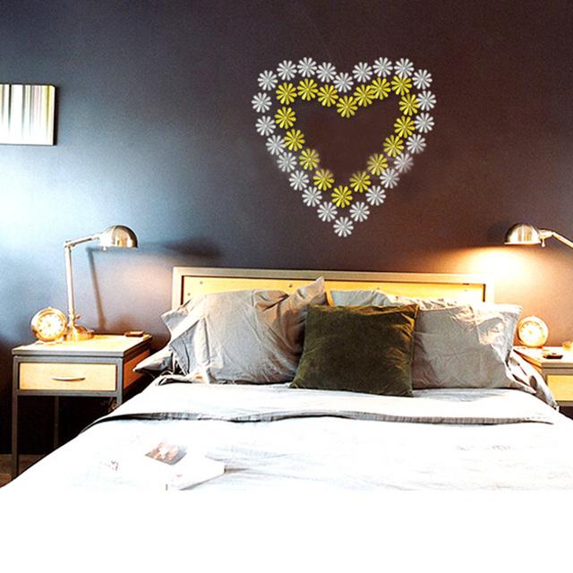 Diy 3D цветок снежинка бабочка стрекоза декоративные настенные стикеры гостиной телевизор фон наклейки на украшения дома