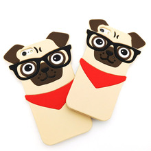 3D Lovely Cartoon Handsome Glasses Dog Funda Capa Soft Silicone Phone Cases Cover iPhone 5 5G 5S SE 6 6G 6S 6Plus - One Shop,One Dream Co., Ltd store