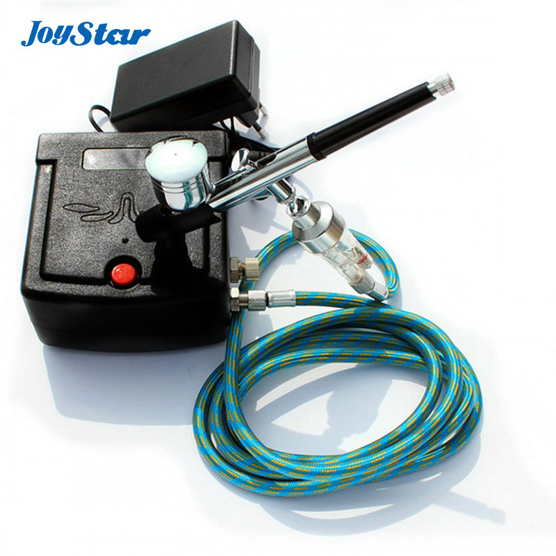ABEST Dual action airbrush compressor Complete kit with filter for toy Hobby models(China (Mainland))