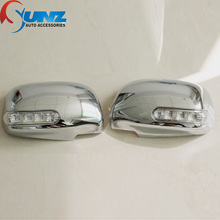 A Rare Automobile Ornament With ABS Silver Color of Door Mirror Cover by Chrome Design for TOYOTA HILUX VIGO CHAMP 2012