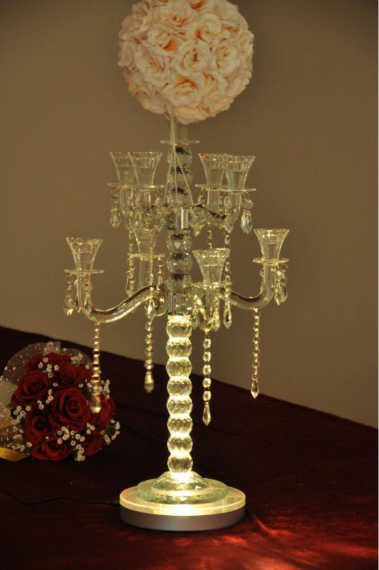 Pieces lot inch under vase light centerpiece led