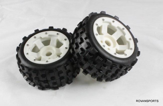 5B baja rear knobby tires set with nylon hub 85038-1<br><br>Aliexpress