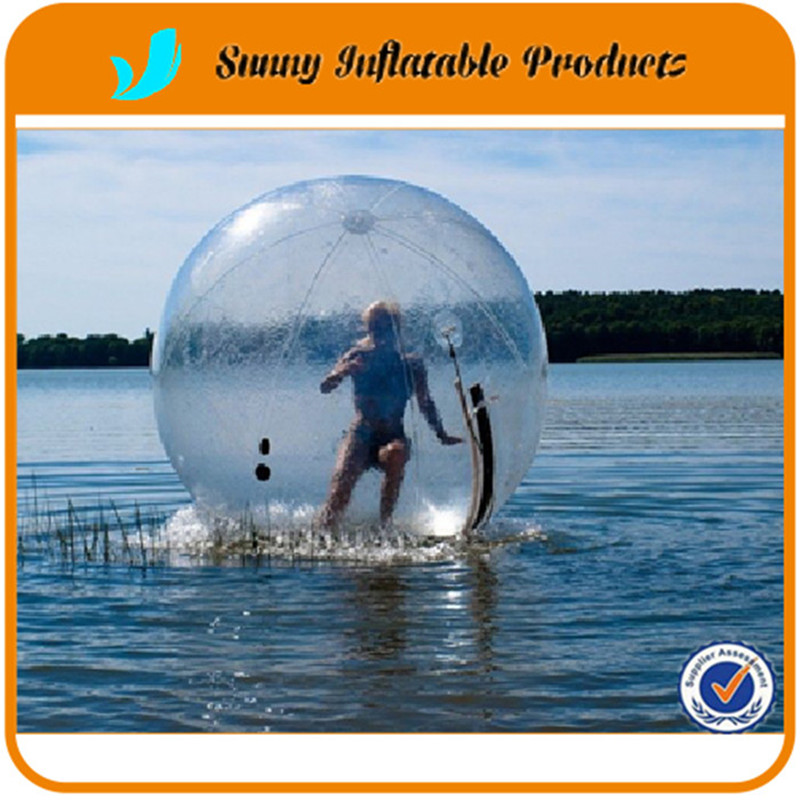 2016 CE certification Material:TPU 2m diameter 0.9mm thickness TPU inflatable Zorb Water Walking Ball walk on water(China (Mainland))