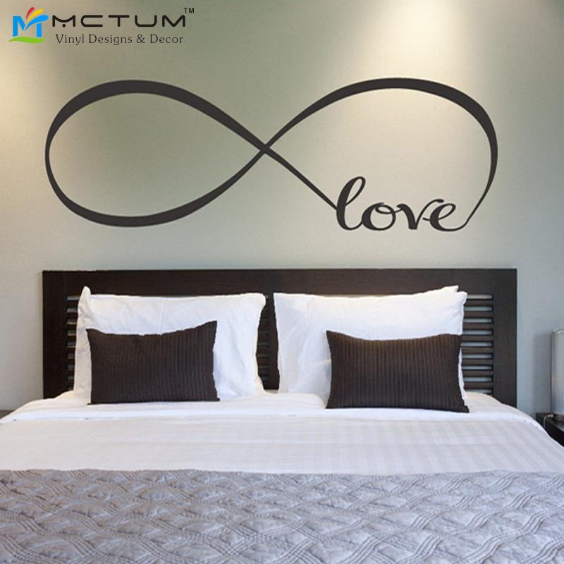 Personalized Bedroom Wall Decor : Love infinity symbol bedroom personalized vinyl wallpaper