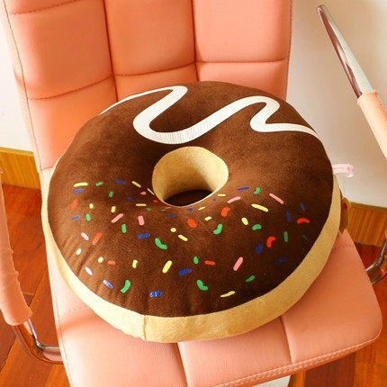 Chocolate donuts large pillow thickening cushion nap pillow cushion multi-purpose cushion pillow Home Decoration