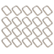 20pcs 25mm Rectangle Metal Dee Ring D Webbing Belt Ribbon Buckle Strap Adjuster (Silver)(China (Mainland))
