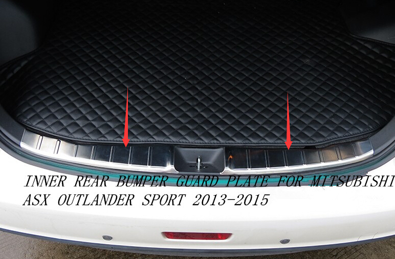 For Mitsubishi ASX Outlander sport 2013 2014 2015 Stainless Steel Inner Rear Bumper Guard Plate Cover Trim 1pcs NEW !!<br><br>Aliexpress