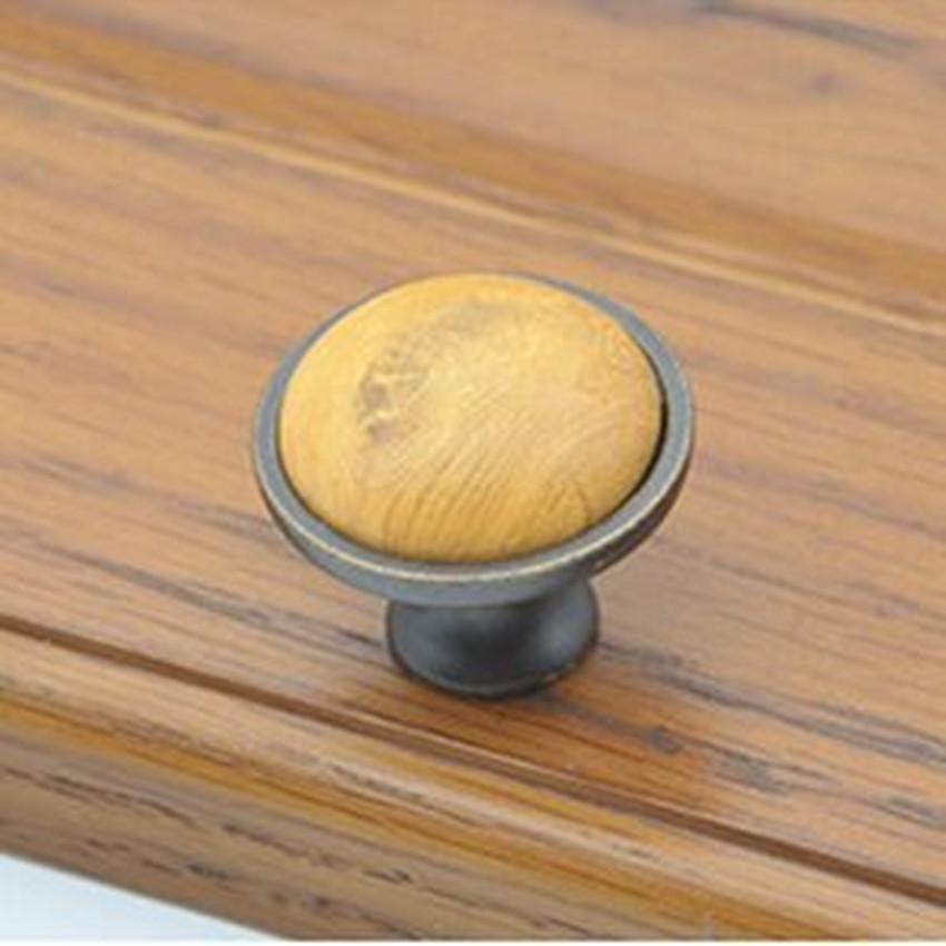 rutro rustico vintage furniture knobs wooden grain ceramic drawer cabinet knobs antique iron dresser cupboard door pulls handles<br><br>Aliexpress