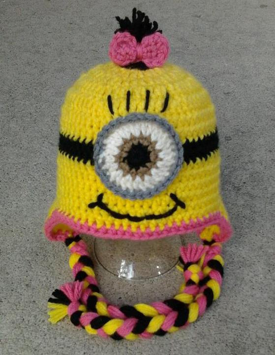 , new handmade crochet baby Minion hat Despicable Hat ,baby/girls/boys beanie capS 100% cotton - hats store