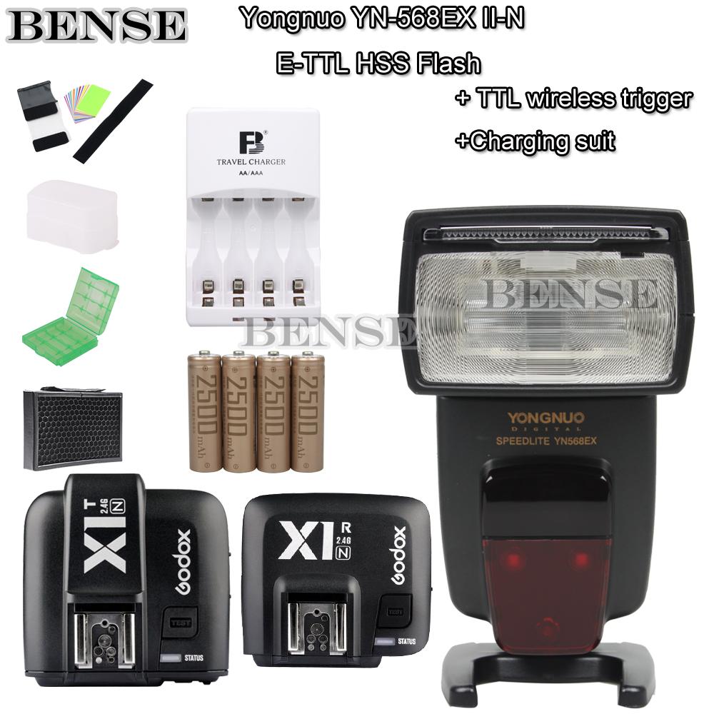YONGNUO YN-568EX Wireless Slave TTL Flash Speedlite+ AA/battery kit + X1N Wireless trigger kit for nikon(China (Mainland))