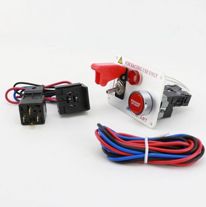 Universal Ignition Engine Start Push Toggle Switch Panel for Racing Car Only 12V(China (Mainland))