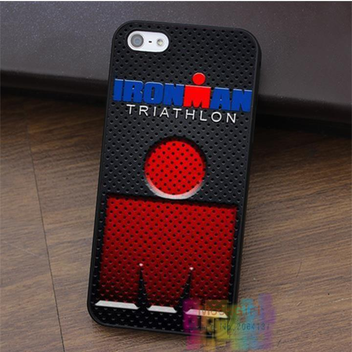 Painted Ironman triathlon fashion cell phone case for iphone 4 4s 5 5s 5c SE 6 6s & 6 plus & 6s plus #LI2447