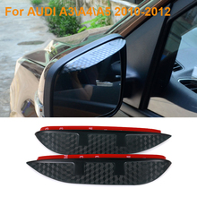 Buy 2016 Car Styling Carbon Rearview Mirror Rain Blades Car Back Mirror Eyebrow Rain Cover Protector AUDI A3 A4 A5 2010-2012 for $9.29 in AliExpress store